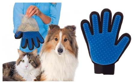 Pet Dog Cat Gentle Deshedding Brush Grooming Glove Massage Tool 15eba204-ae06-4ed7-acbc-244a7b4488b0