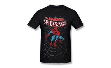 Men's Marvel Comics Spider-man Amazing Spiderman T-shirts Black 54ec9630-9df5-400a-8891-158e5712c940