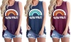 Summer Women's Vest Good Vibes Letter Printing Round Neck Sleeveless Tops