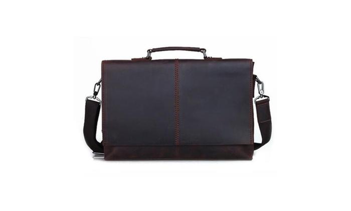 Crazy horse Leather Messenger Laptop Briefcase