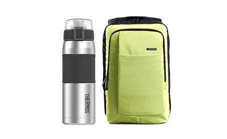 """Kingsons 15.6"""" Laptop Backpack w/ 24 oz Insulated S/S Drink Bottle f7c42d34-61a1-42f9-9b8b-55bf3166d0ff"""