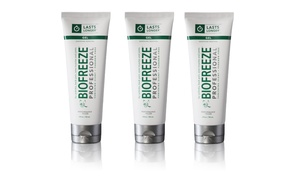 3 Pack: Biofreeze Professional Strength Pain-Relieving Gel or Roll on - Green