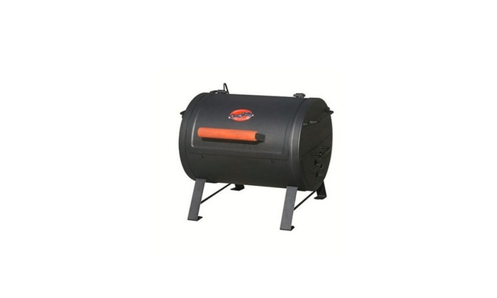 Char Griller 250 Sq Inch Table Top Charcoal Grill And Smoker, Black