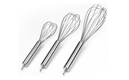 Set of 3 Stainless Steel Wire Whisk Set 71c16c9b-3fea-4004-954c-0a079bb00768