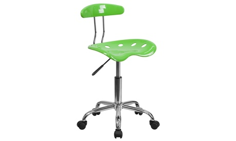 Vibrant Colored Swivel Task Chair with Tractor Seat d1dfc08a-52d5-4d83-9a52-9e71ad78352e