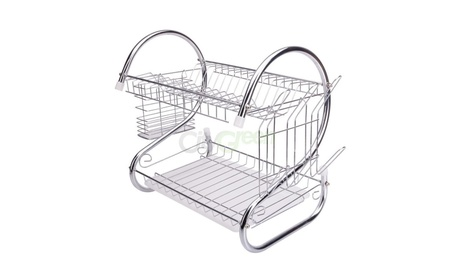 2 Tiers Kitchen Dish Cup Drying Rack a581dd2d-7eed-4e8a-a7c5-98a15b9367a6