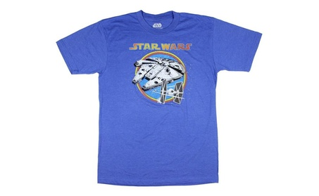 Star Wars Millennium Falcon and TIE Fighter Mens T-Shirt 8f96d98a-c8e1-499d-90ba-139ac9913f69