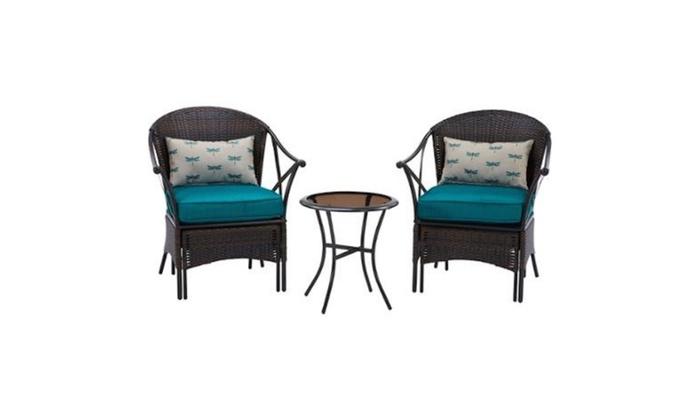 Discounts R Us: Mainstays 5 Piece Skylar Glen Outdoor Leisure Set, Blue,