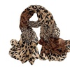 PG Long Leopard Silk Scarf Scarves Shawls Wraps Pashmina Light Weight