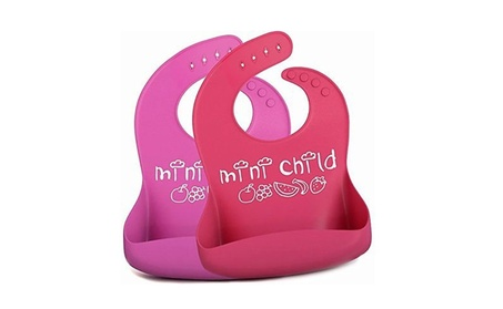 New Baby Silicone Stereo Bib Adjustable Feeding Meals Crumb Catcher 104fcdf4-0152-40f7-a47d-5817e5c37e4c