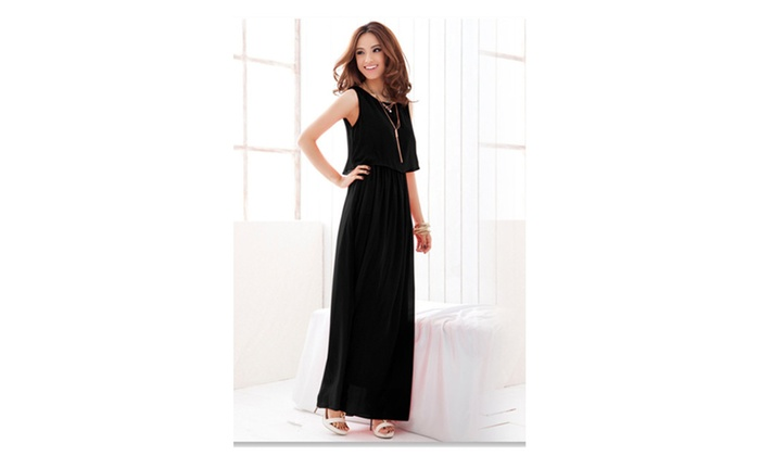 Women Long Skirt Loose Blouse Beach Dress - ZWWD263-ZWWD262