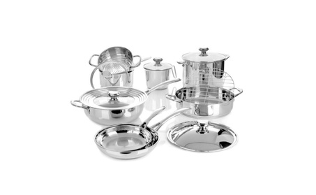 Wolfgang Puck Bistro Elite 14-piece Cookware Set - Refurbished 2d818feb-2bed-4b5a-b0fa-69548f309173