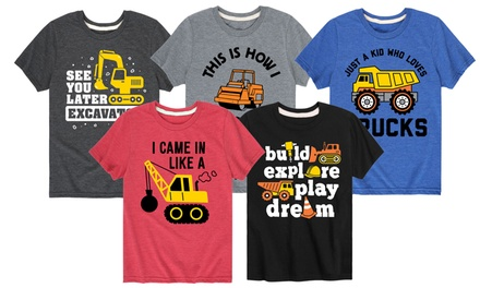 Printed In The USA Kids Dirt Expert Construction Tees