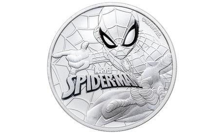 Spider Man Silver $1 Tuvalu Coin cabee74c-95ae-415d-a6c8-7faaeb0b2ce5