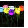 Solar Powered Plastic Tulip Shaped Path Lights (Set of 6)
