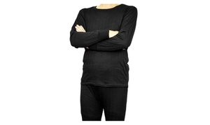 Peach Couture Mens Lined Thermal Wear Set (2 Piece)
