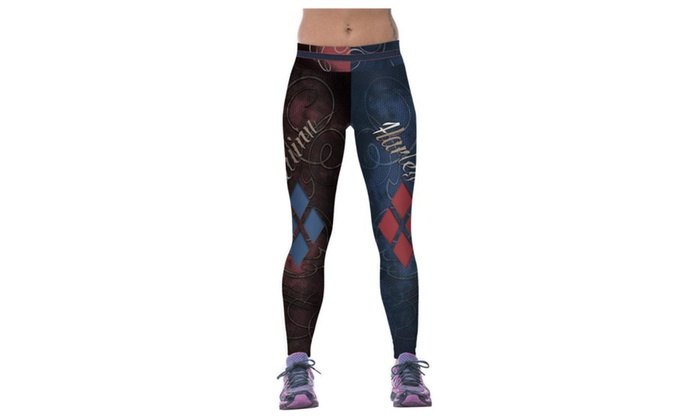 Women's Fight Color Printing Elasticity Tight Fitness Pants Leggings