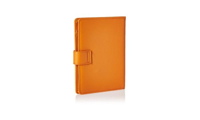 Passport Holder & Travel Wallet Id Card Case Rfid Blocking Leather