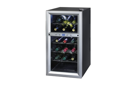 Kalorik Black and Stainless Steel Wine Cooler c87d5c8d-d610-41c7-9dbe-107be3ab9845