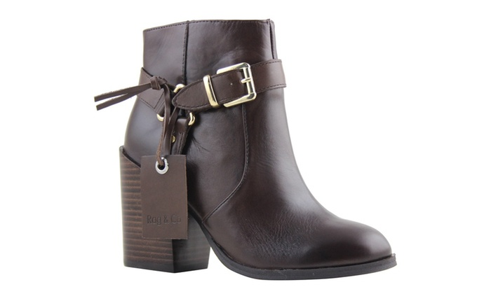 47b8fd664b9e6 Celebrity NYC Women s Genuine Leather Buckle Closue Ankle Boots ...