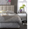 Closeout: Bordeaux Light Beige Fabric Full Size Headboard