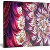 Lavender Floral Pyramid Metal Wall Art 28x12