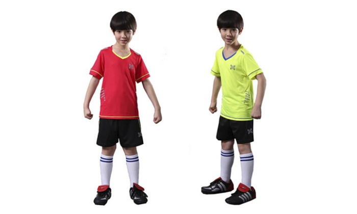 Children Short Sleeve Soccer Suits Training Clothing Pants