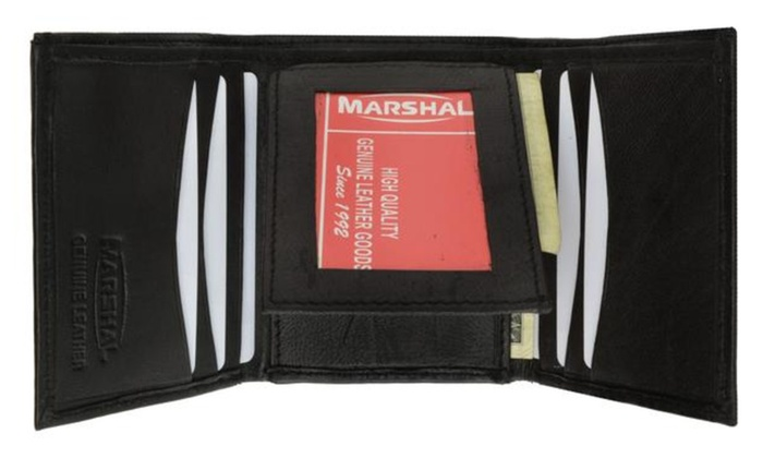 Trifold Middle Flap ID Lambksin Leather Wallet