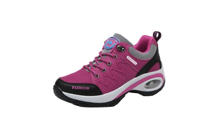Women's Ladies Faux Leather Sneaker Hiking Shoes