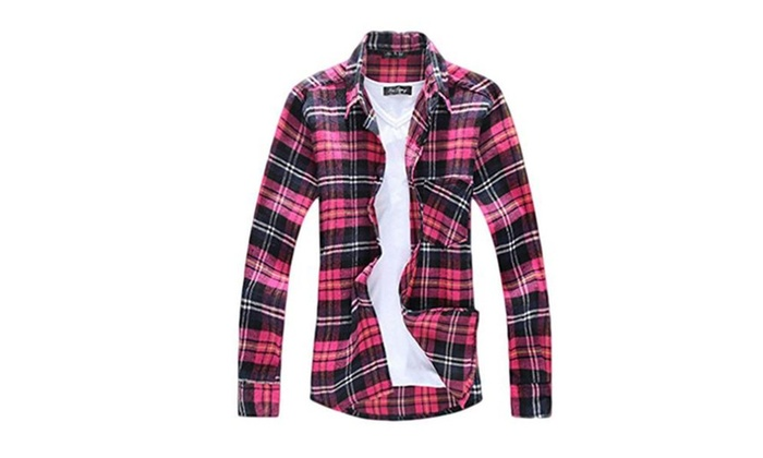 Cotton Casual Men's Plaid Long Sleeve Slim Fit Shirt Top – 3 color / XX-Large