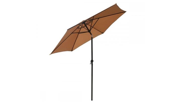 melissa merchant: New Patio Umbrella 9' Aluminum Outdoor Patio Market Umbrella Tilt