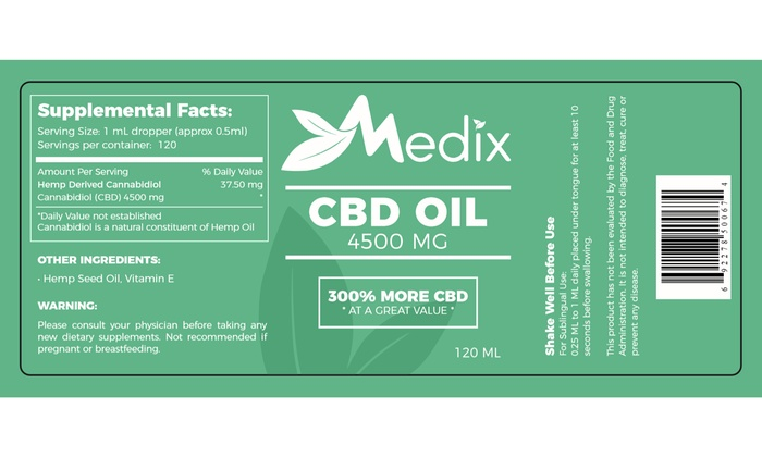 Up To 25% Off on Medix CBD Oil, 100% Natural F    | Groupon