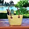 Handwoven Eco-Friendly Multi-Purpose French-Style Wheat Picnic Basket