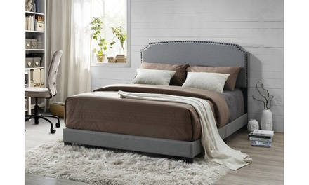 Odette Modern and Contemporary Fabric Upholstered Bed