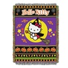 Northwest 1SAN-05100-0002-RET Hello Kitty Witchy Kitty Woven Throw