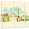 Berlin Panoramic View - Cityscape Watercolor Metal Wall Art