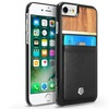 CobblePro Design Wooden PU Leather Slim Hard Back Case Cover For iPhone 7 6 6S