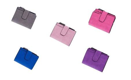 Women Ladies Grind Bifold PU Leather Purse Retro Wallet Card Holder (Goods Women's Fashion Accessories Wallets) photo