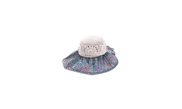 Women's Fashion Floral Printed Wide Brim Sun Hat