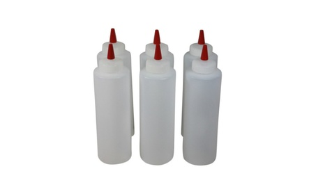 Plastic Squeeze Condiment Bottles with Red Tip Cap 16-ounce Set of 6 3c63b012-a824-4593-8a8f-5121e2b6b205