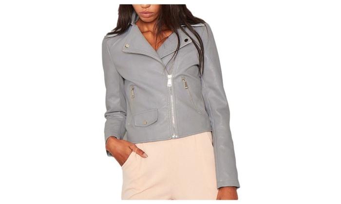 Women's New Arrival Long Sleeve Zip Closure Nylon Coats