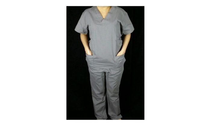 fcf0d4b5ba7 MedGear Scrubs Set, Women Top and Cargo Pants, Nursing Uniform, Gray ...