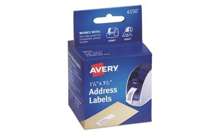 Avery Dennison Thermal Printer Address Labels, 1 1/8 X 3 1/2, 130/Roll, 2 Rolls 84652ab7-946b-4762-bbcc-da681fcc58c7