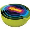 Joseph Joseph 9 Nesting Bowls Set with Mixing Bowls Measuring Cups