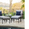 Maui Outdoor Wicker Seating Set with Table (5-Piece)