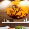 Orange Glow of African Sunset' Extra Large Wall Art Landscape
