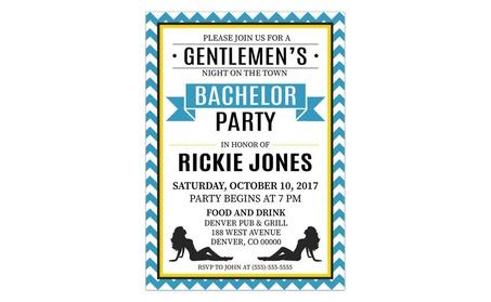 Blue Chevron Bachelor Party Invitations 328aa097-186d-45d1-a978-8f168d8a260a