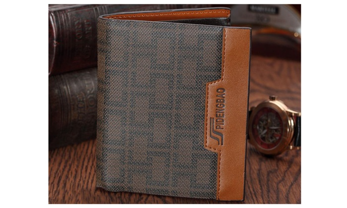 Men's Designed Leather Casual Wallet Brown - UMW910 - Brown