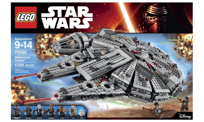 LEGO Star Wars Millennium Falcon 75105 Building Kit | Groupon