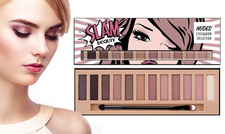 Slam Beauty Intense Natural Nude Eyeshadow Palette - 12 colors